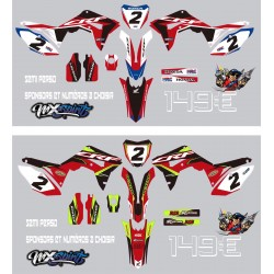 Kit deco honda CRF 2017 (replique HRC)